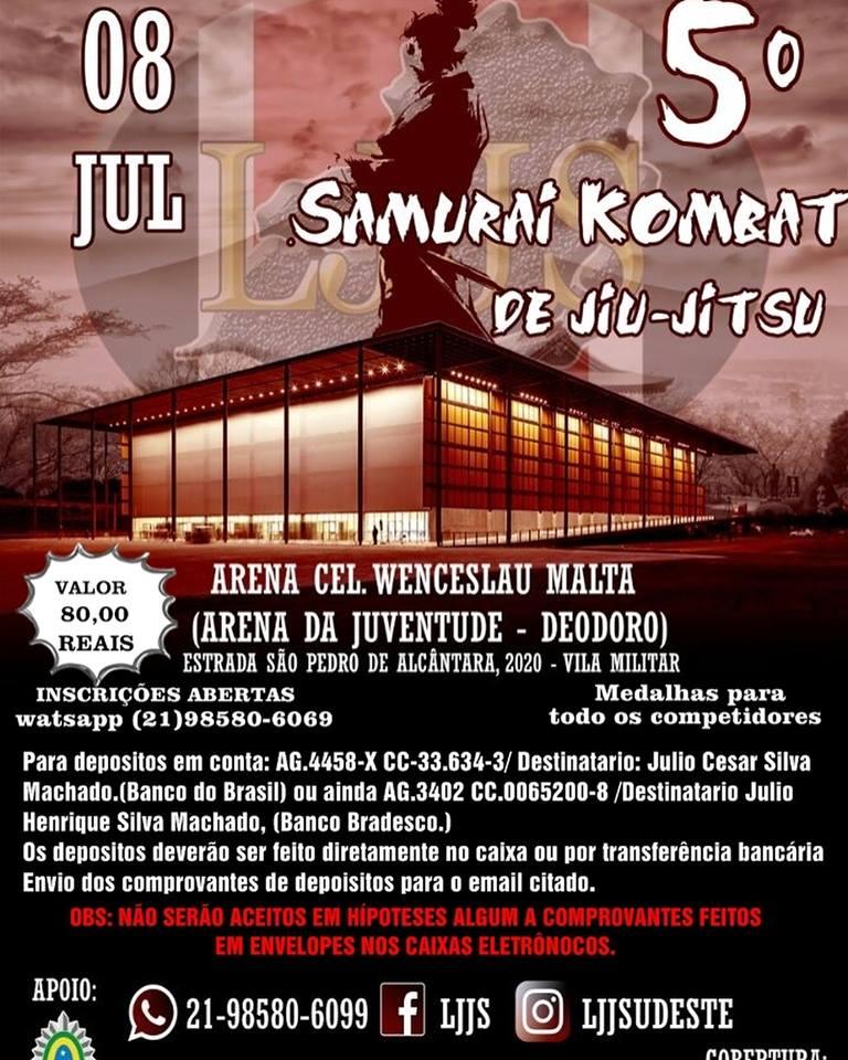samurai kombat de jiu-jitsu